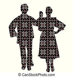 パターン装飾された, ダンサー, モチーフ, 民俗学, 民族
