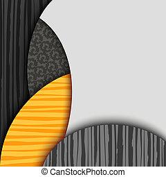 パターン装飾された, 層, 抽象的, 背景
