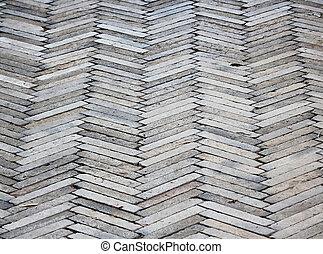 パターン装飾された, 床, セメント, 舗装, 背景, れんが, タイル