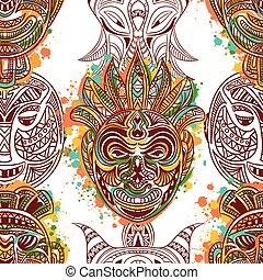 パターン, ∥で∥, アフリカ, 種族のマスク
