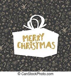 パターン, ∥で∥, クリスマス, elements., レトロ, スタイルを作られる