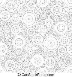 パターン, の, 灰色, 円