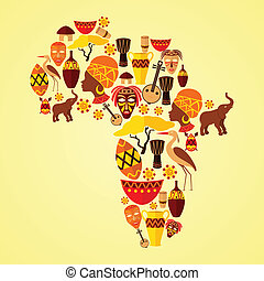パターン, アフリカ, seamless