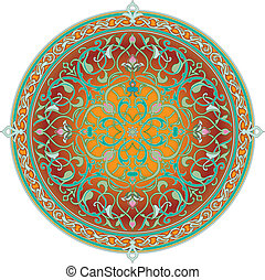 パターン, アラビア, モチーフ, 花