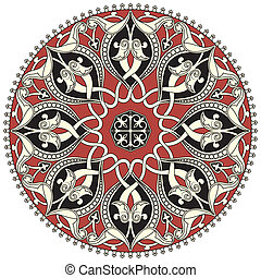 パターン, アラビア, 円