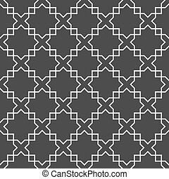 パターン, アラビア, 白, 黒, seamless