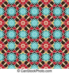 パターン, アラビア, seamless