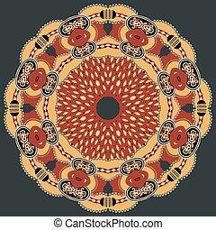 パターン, アラベスク, 円
