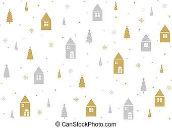 パターン, イラスト, ベクトル, デザイン, 背景, 白い クリスマス