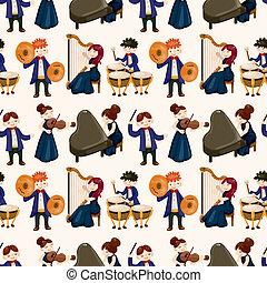パターン, オーケストラ, 音楽, seamless, プレーヤー