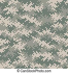 パターン, カモフラージュ, 軍, seamlessly, tileable, ピクセル