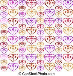 パターン, カラフルである, 心
