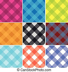 パターン, ギンガム, seamless, はたを織りなさい, 交差点