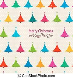 パターン, クリスマスツリー, seamless