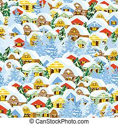 パターン, クリスマス, 家