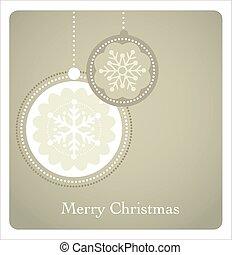 パターン, クリスマス, 背景, レトロ