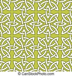 パターン, ケルト, 基づかせている, seamless
