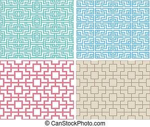 パターン, スタイル, 現代,  seamless, 中国語