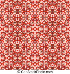 パターン, スタイル, 装飾,  seamless, 中国語