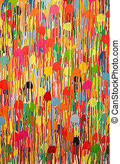 パターン, ストローク, 黄色, 抽象的, のように, art:, 絵, 色, 青, 別, 緑, オレンジ, ∥など∥, 赤