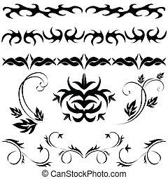 パターン, セット, gothic