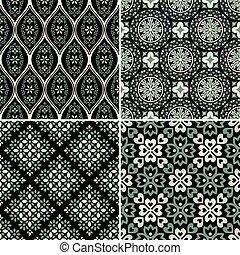 パターン, セット, seamless