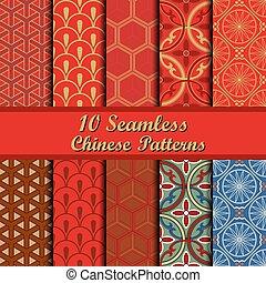 パターン, セット, seamless, 中国語