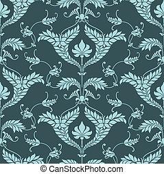 パターン, ダマスク織