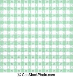 パターン, テーブルクロス, seamless, ギンガム