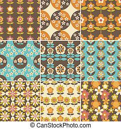 パターン, デザインを設定しなさい, seamless, 70s