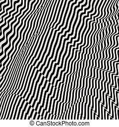パターン, バックグラウンド。, 光学, 黒, illusion., 白