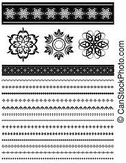 パターン, パターン装飾された, b, コレクション