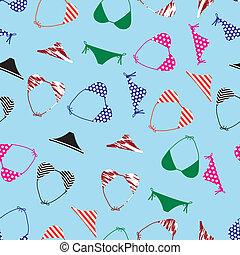 パターン, ビキニ, eps10, 水着