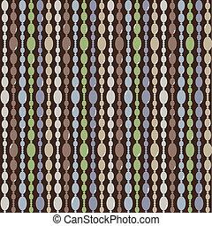 パターン, ビーズ, ベクトル, seamless