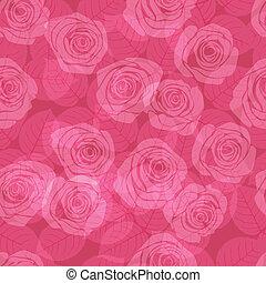 パターン, ピンクのバラ
