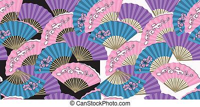 パターン, ファン, 日本語, seamless