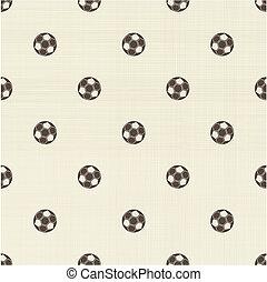 パターン, フットボール, ポルカ, seamless, 点