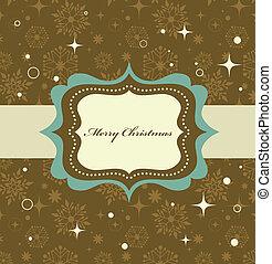 パターン, フレーム, レトロ, 背景, クリスマス