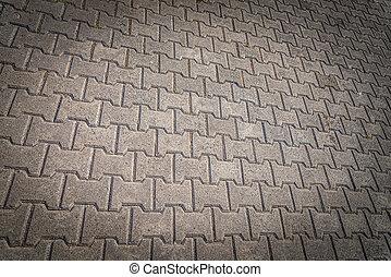 パターン, ブロック, 床