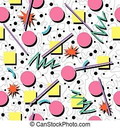 パターン, ベクトル, ∥あるいは∥, 混沌としている, 80s, 背景, 90s, seamless