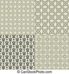 パターン, ベクトル, セット, seamless