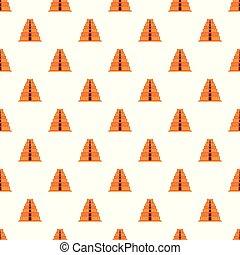 パターン, ベクトル, ピラミッド, mayan, seamless