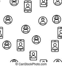 パターン, ベクトル, ユーザー, seamless