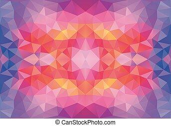 パターン, ベクトル, 低い, poly, seamless