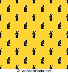 パターン, ベクトル, 勝利, 手の 印