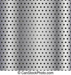 パターン, ベクトル, 格子, seamless, 金属