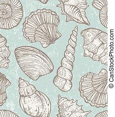 パターン, ベクトル, 海の貝