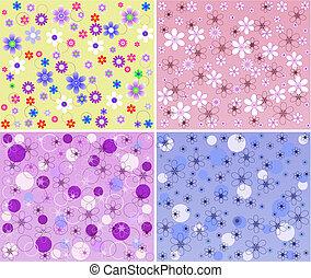 パターン, ベクトル, -, 花