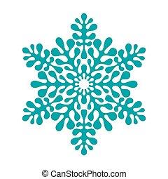 パターン, ベクトル, 雪片, 冬