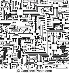 パターン, ベクトル, 電子, seamless, hi-tech